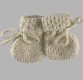 natural knit baby booties