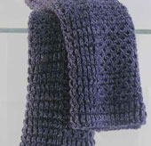 dark purple dishcloth