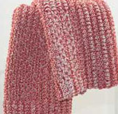 red knit cloth